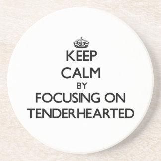 Keep Calm by focusing on Tenderhearted Beverage Coasters
