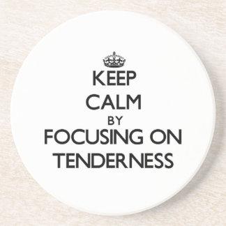 Keep Calm by focusing on Tenderness Drink Coasters
