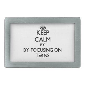 Keep calm by focusing on Terns Belt Buckle