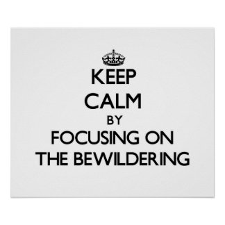 Keep Calm by focusing on The Bewildering Posters