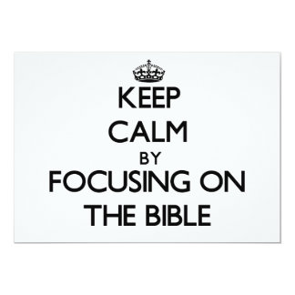 Keep Calm by focusing on The Bible Personalized Announcement