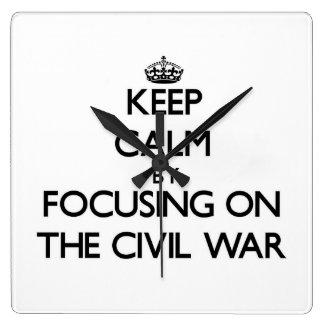 Keep Calm by focusing on The Civil War Wallclock