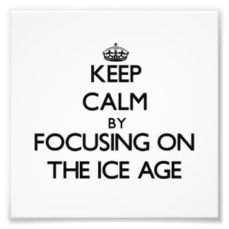 Keep Calm by focusing on The Ice Age Art Photo