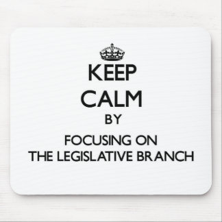 Keep Calm by focusing on The Legislative Branch Mouse Pad