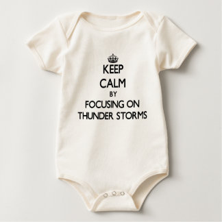 Keep Calm by focusing on Thunder Storms Baby Bodysuits