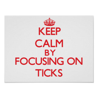 Keep calm by focusing on Ticks Poster