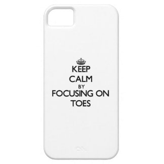 Keep Calm by focusing on Toes iPhone 5 Covers