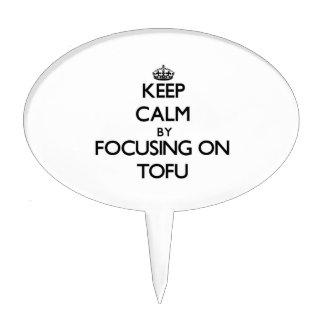 Keep Calm by focusing on Tofu Cake Pick