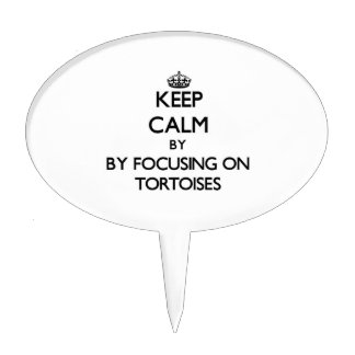 Keep calm by focusing on Tortoises Cake Toppers