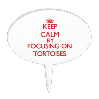Keep calm by focusing on Tortoises Cake Topper