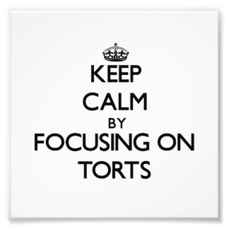 Keep Calm by focusing on Torts Photographic Print