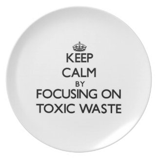 Keep Calm by focusing on Toxic Waste Party Plate