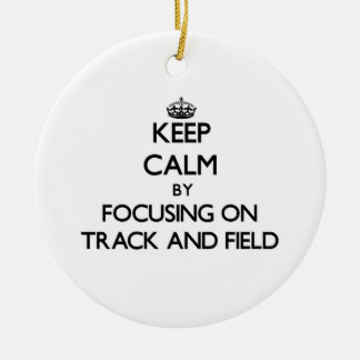 Keep Calm by focusing on Track And Field Christmas Tree Ornament