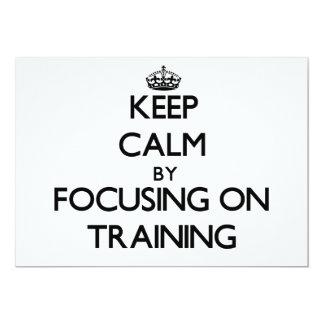 Keep Calm by focusing on Training Invitation
