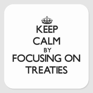 Keep Calm by focusing on Treaties Square Sticker