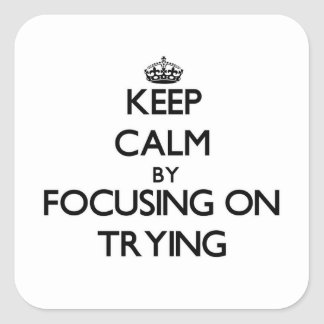Keep Calm by focusing on Trying Stickers