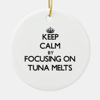 Keep Calm by focusing on Tuna Melts Christmas Ornament