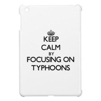 Keep Calm by focusing on Typhoons iPad Mini Covers