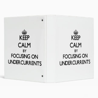 Keep Calm by focusing on Undercurrents Binder