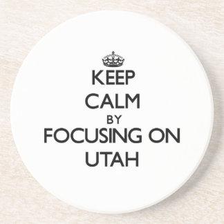Keep Calm by focusing on Utah Beverage Coaster