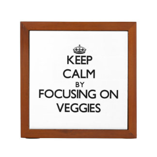 Keep Calm by focusing on Veggies Pencil/Pen Holder