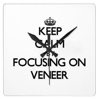 Keep Calm by focusing on Veneer Wall Clocks