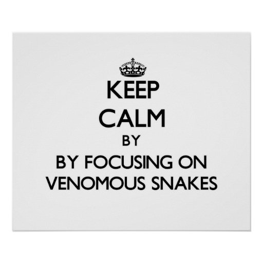 Keep calm by focusing on Venomous Snakes Posters