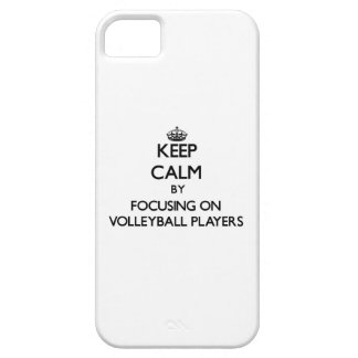 Keep Calm by focusing on Volleyball Players iPhone 5 Cases