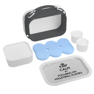 Keep Calm by focusing on Volleyball Players Lunch Box
