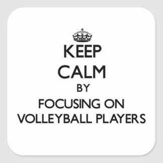 Keep Calm by focusing on Volleyball Players Stickers