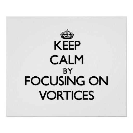 Keep Calm by focusing on Vortices Poster