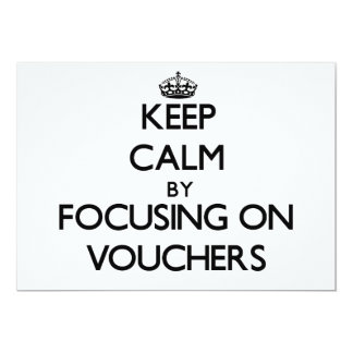 Keep Calm by focusing on Vouchers Announcements