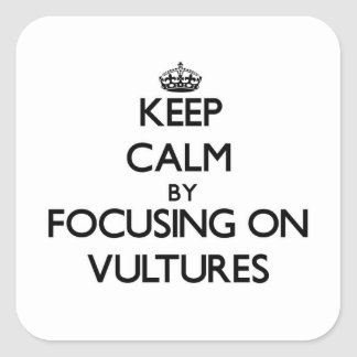 Keep Calm by focusing on Vultures Square Sticker