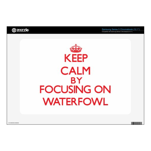 Keep calm by focusing on Waterfowl Samsung Chromebook Decal