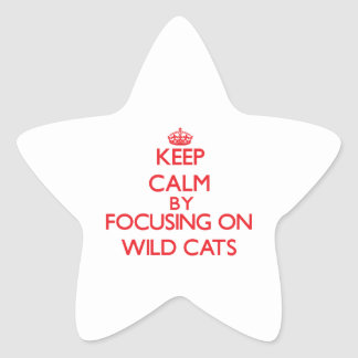 Keep calm by focusing on Wild Cats Stickers