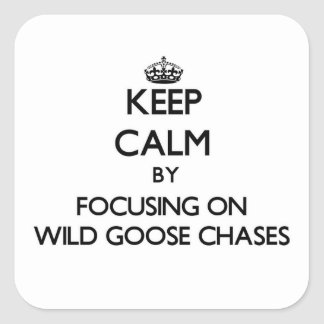 Keep Calm by focusing on Wild Goose Chases Stickers