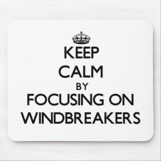 Keep Calm by focusing on Windbreakers Mouse Pad