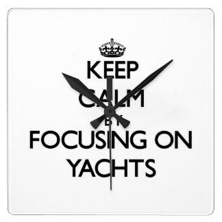 Keep Calm by focusing on Yachts Wallclocks