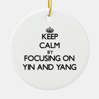 Keep Calm by focusing on Yin and Yang Christmas Tree Ornaments