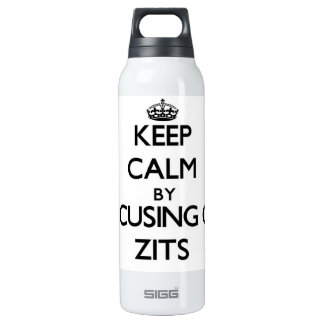 Keep Calm by focusing on Zits 16 Oz Insulated SIGG Thermos Water Bottle
