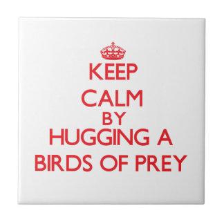 Keep calm by hugging a Birds Of Prey Ceramic Tiles