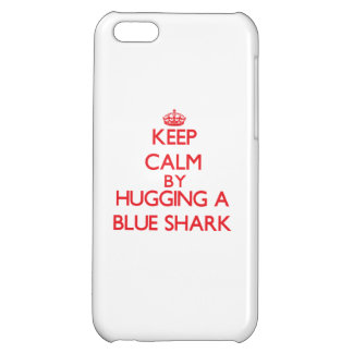 Keep calm by hugging a Blue Shark iPhone 5C Cases