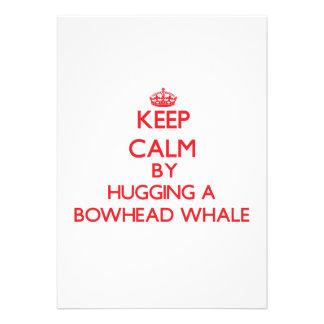 Keep calm by hugging a Bowhead Whale Invitations