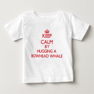 Keep calm by hugging a Bowhead Whale Tee Shirt