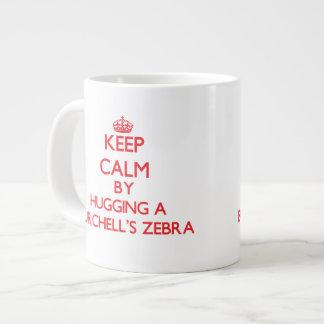 Keep calm by hugging a Burchell's Zebra 20 Oz Large Ceramic Coffee Mug