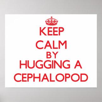 Keep calm by hugging a Cephalopod Print