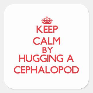 Keep calm by hugging a Cephalopod Sticker