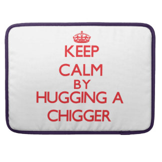 Keep calm by hugging a Chigger Sleeve For MacBooks