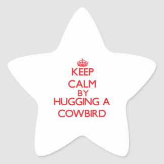 Keep calm by hugging a Cowbird Star Stickers