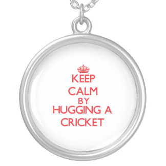 Keep calm by hugging a Cricket Round Pendant Necklace